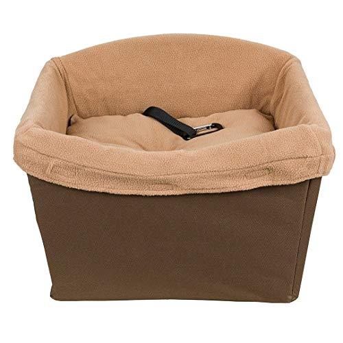 PetSafe Happy Ride Sicherheitssitz für Hunde, Haustiersitz für Autos, Lkw und SUVs, Mit Sicherheitshaltegurt, Strapazierfähige, einfach zu reinigende und waschmaschinenfeste Fleece-Einlage, braun