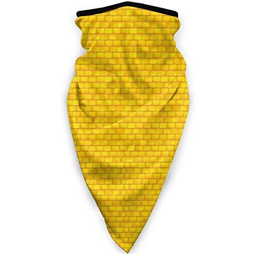 Máscara de ladrillo amarillo de la carretera a prueba de viento máscara de media cara calentador de boca para esquí bicicleta ciclismo motocicleta cómodo transpirable