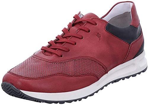 Josef Seibel Herren Low-Top Sneaker Thaddeus 10,Weite G (Normal),lose Einlage,Freizeitschuhe,maennlich,Men's,schnürer,Rot-Kombi,42 EU / 8 UK