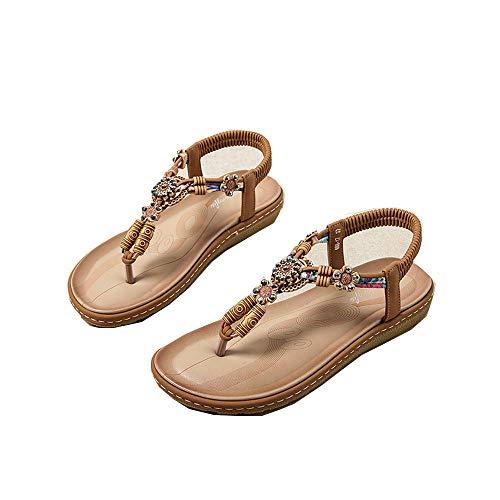Zapatos De Mujer De Talla Grande Moda De Verano Nuevas Sandalias Casuales Bohemias Sandalias De Mujer Zapatos De Playa Antideslizantes Planos Salvajes