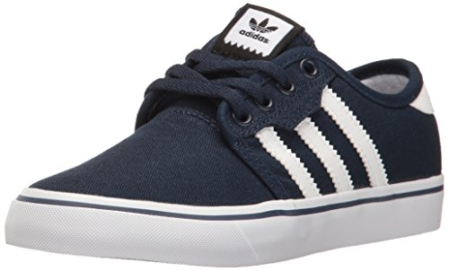 adidas Originals Unisex-Kid's Seeley Running Shoe, Collegiate Navy/White/White, 4 M US Big Kid