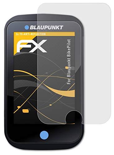 atFoliX Panzerfolie kompatibel mit Blaupunkt BikePilot Schutzfolie, entspiegelnde & stoßdämpfende FX Folie (3X)