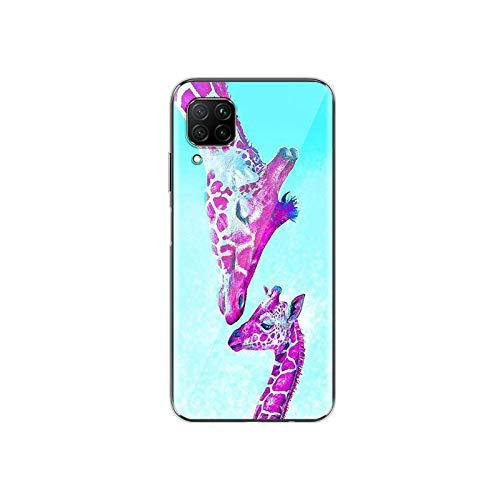 Diseño de jirafa para Huawei P40 P30 P20 P10 P9 P8 Lite E 5G 2017 2019 Pro Plus Phone Case Style 05-for Huawei P40 Lite