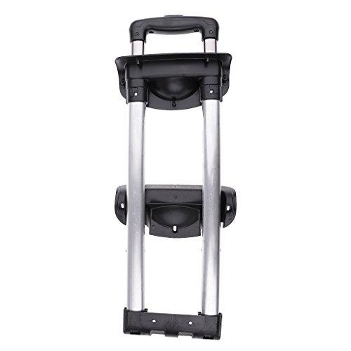Luggage Handle Grip Suitcase Drawbar Trunk Aluminium Alloy Rod - black, three bars