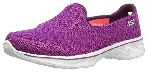 Skechers Go Walk 4, Entrenadores para Mujer, Morado (Purple), 36 EU