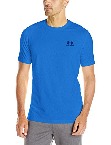 Under Armour Cc Left Chest Lockup, Camiseta para Hombre, Azul (Tropical Tide/Swallowtail/Anthracite), L