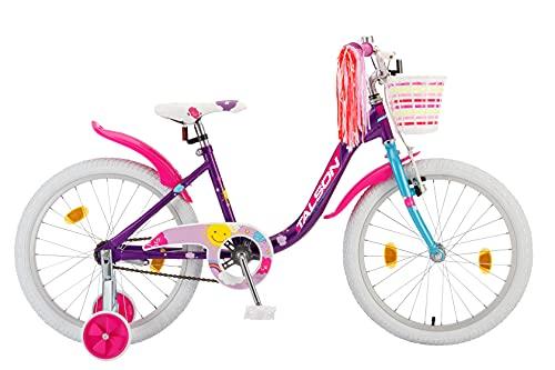 TALSON 20 Zoll Fahrrad Sarah mit Korb und Stützrädern Lila
