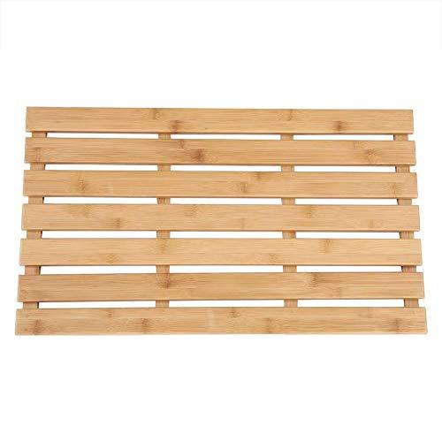 Bamboe badmat, Badkamer Duckboard, Rechthoekige bamboe plank antislip badmat badkameraccessoires, Rechthoekige Bad Eend Board