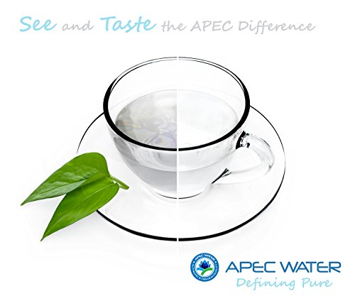 APEC Water Systems ROES-PH75 Essence Series Top Tier Alkaline Mineral pH+ 75 GPD 6-Stage Certified Ultra Safe Reverse… 4 Supreme quality - designed, engineered and assembled in USA to guarantee water safety & your health. This 75 GPD 6-stage system ROES-PH75 is guaranteed to remove up to 99% of contaminants such as chlorine, taste, odor, VOCs, as well as toxic fluoride, arsenic, lead, nitrates, heavy metals and 1000+ contaminants. Max Total Dissolved Solids - 2000 ppm. Feed Water Pressure 40-85 psi US made cartridge uses food-grade calcium from trusted source for safe, proven water pH enhancement. Enjoy ultra-pure drinking water with added calcium minerals for improved ALKALINITY and great taste.