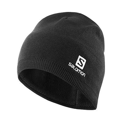 Salomon Unisex Outdoor-Microfleece-Mütze Beanie, Schwarz, Einheitsgröße