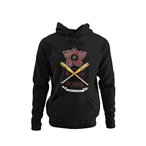 BlackSweatshirt Demogorgon Hunter Stranger Things Sudadera con Capucha XL STR14