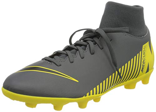 Nike Herren Superfly 6 Club MG Fußballschuhe, Grau (Dark Grey/Black-Opti Yellow 070), 41 1/3 EU