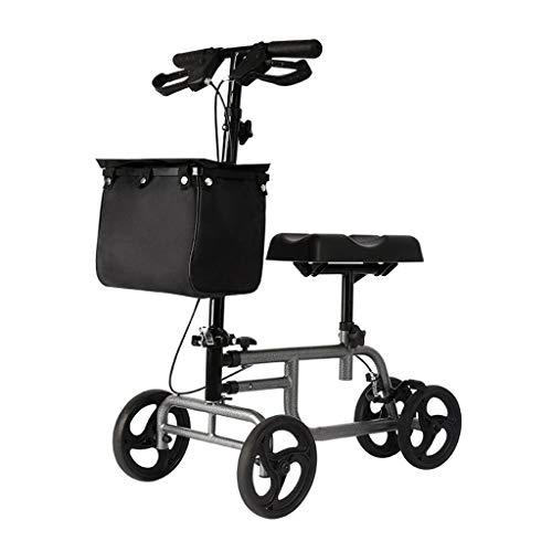 Accesorios para andadores con ruedas Knee Walker Knee Scooter Knee Walker Carrito De Roller Quad Roller Rehabilitación Walker Walker Ayuda Dispositivo Para Caminar Asistido Para El Tranvía Discapacita