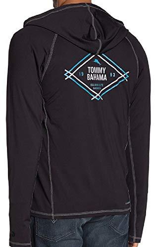 Tommy Bahama Island Active Breakline Full Zip Lightweight Hoodie (Color: Black, Size XL)