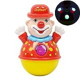 Rolly Toys - Stehauf - Clown mit Glockensound, Stehaufpuppe Wackelpuppe Musik Puppe Musikpuppe,...