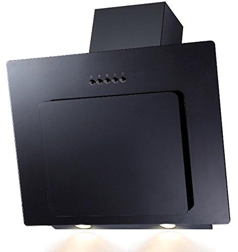 SH60de BL Cristal Negro Campana extractora borde de aspiración 60cm oblicuo