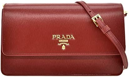 Prada Vitello Move Rubino Red Leather Crossbody Wallet Handbag 1BP016 product image