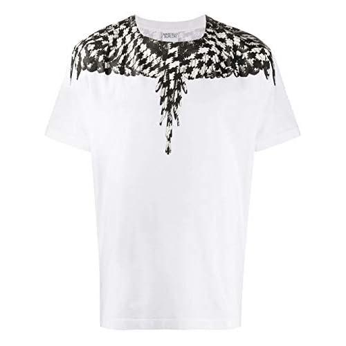 MARCELO BURLON Luxury Fashion Uomo CMAA018F20JER0030110 Bianco Cotone T-Shirt | Autunno-Inverno 20