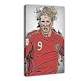 Poster mit internationalem Fußballspieler Fernando Torres