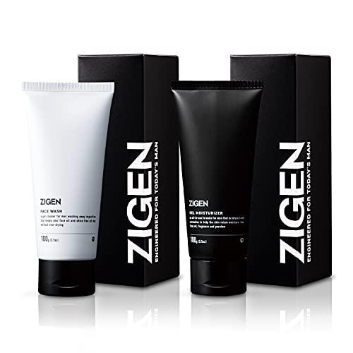 ZIGEN(ジゲン)メンズ スキンケア 2点セット 洗顔 & ジェル [ 化粧水 美容液 保湿 ] オールインワン 肌ケア 各100g