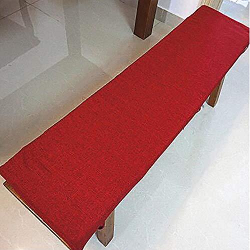 ZZFF Thicken Rectangle Bench Cushion,Ropa De Algodón Pad De Silla Larga con Lazos,Taburete Largo Víveres Settee Cushion para Interiores Al Aire Libre Patio H 35x180x3cm(14x71x1inch)