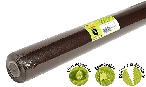 Pro Mantel – Ref R785011I – Mantel desechable de Fieltro spunbond – Rollo de 50 m de Largo x 1,20 m de Ancho – Color Chocolate – Tejido antidesgarro, Impermeable y Lavable
