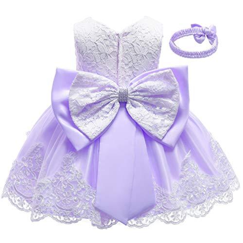 Purple Formal Prom Summer Wedding Girls Dresses A-line Sleeveless Knee Length Tutu Ruffle Kids Dress Princess Christeing Birthday Party Baby Dress 3T Lilac Violet Lavender
