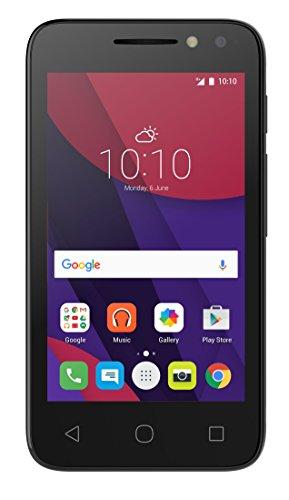 Alcatel PIXI 4 - Smartphone, 4', SIM doble, Android, MicroSIM, EDGE, GPRS, GSM, HSPA+, UMTS, Micro-USB, color negro
