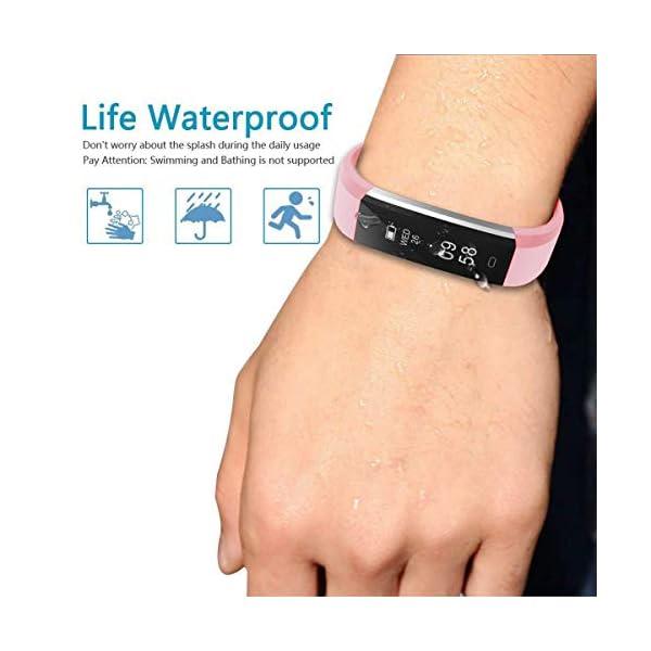 CHEREEKI Pulsera Actividad, Fitness Tracker para Mujer Hombre con Correas Recambias IP67 Waterproof Activity Tracker con… 4