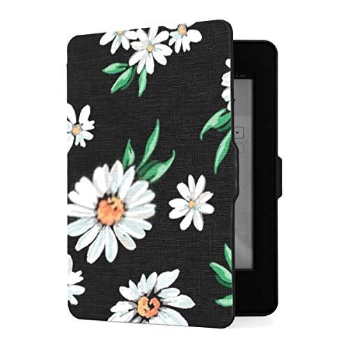 Funda para Kindle Paperwhite 1 2 3, Estampado de Flores de M