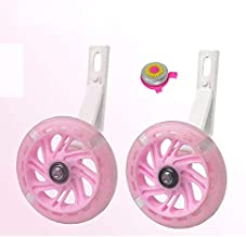 Training Wheels for bike,Compatible for Bikes of 16 Inch,Flash Mute Wheel, 1 Pair (pink2)