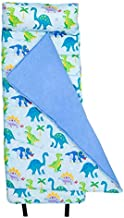 Wildkin Original Nap Mat with Pillow for Toddler Boys and Girls, Measures 50 x 20 x 1.5 Inches, Ideal for Daycare and Preschool, Mom's Choice Award Winner, BPA-Free, Olive Kids (Dinosaur Land)