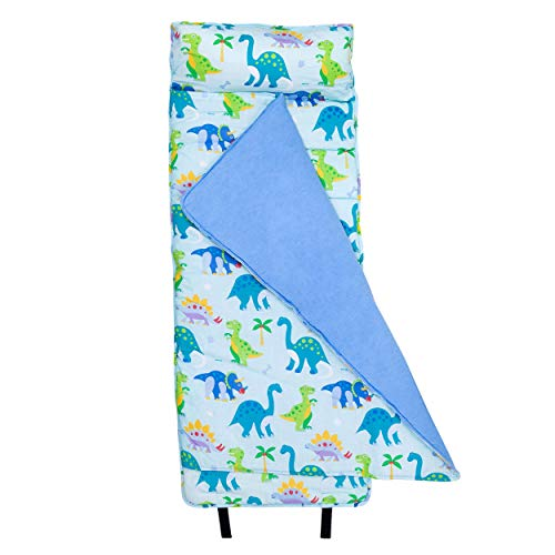 Wildkin Nap Mat with Pillow for Toddler Boys and Girls, Perfect Size for Daycare and Preschool, Designed to Fit on a Standard Cot, Patterns Coordinate with Our Lunch Boxes and Backpacks, Dinosaur Land