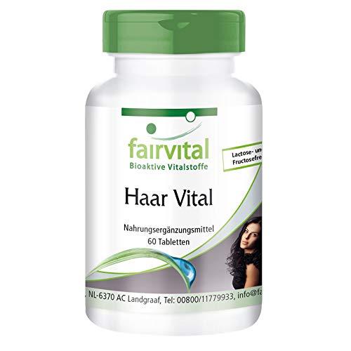 Vitaminas para el cabello - Levadura de cerveza + Zinc + Biotina + Proteína de soja y más - Hair Vitamins - Dosis elevada - 60 Comprimidos - Calidad Alemana