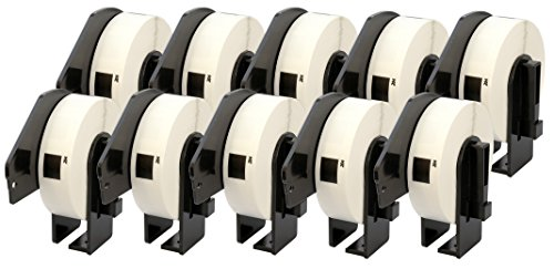 10x DK-11204 17 x 54 mm Etiketten (400 Stück/Rolle) kompatibel für Brother P-Touch QL-1050 QL-1060N QL-1110NWB QL-1100 QL-500 QL-500A QL-500BW QL-570 QL-580 QL-700 QL-710W QL-800 QL-810W QL-820NWB
