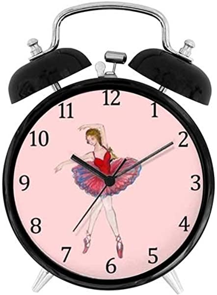 47BuyZHJX Unique Retro Style Decoration Ballerina Latida 4 Twin Bell Alarm Clock With Nightlight Battery Operated Loud Alarm For Sleepers On Bedside Desk Table For Home Office