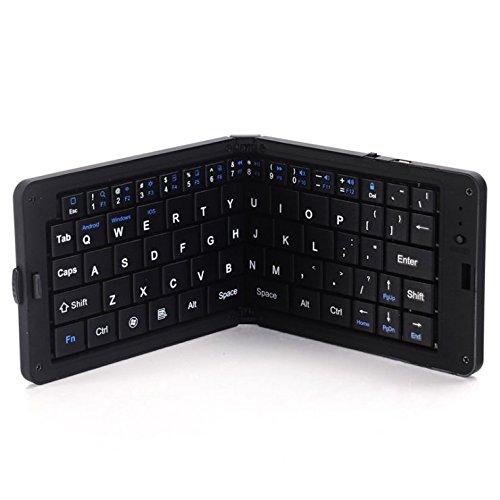 Tastaturen Bluetooth, klappbare, Stummschaltungstastatur, Office-Spiele (Farbe : Black)