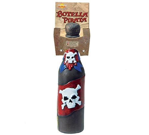 Calavera pirata plástico botella