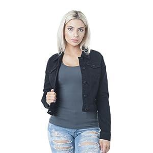 Hollywood Star Fashion: Damen-Jeansjacke Schwarz