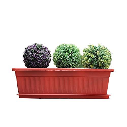 Jardineras Exterior Balcon Macetas,tiestos para Plantas, Adecuado para el Cultivo de Flores y hortalizas.Ahorra Agua Y Resistente A La SequíA(Palet no Incluido),Rojo,A*5