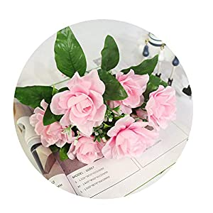 Sevem-D New Artificial Flower Decor Bouquet 7Branch Fake Silk Gardenia Home Table Flower DIY Wedding Decoration