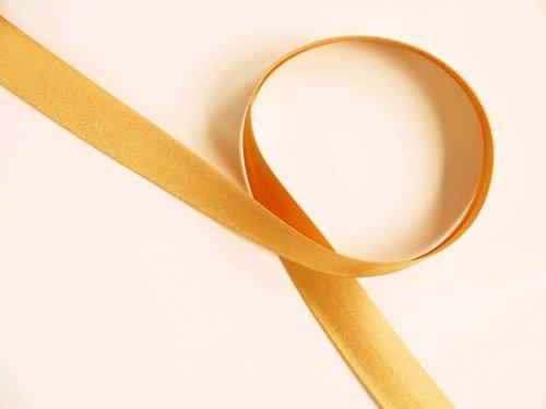 Satin Schrägband, gold- honig, doppelt gefalzt, 40/20mm