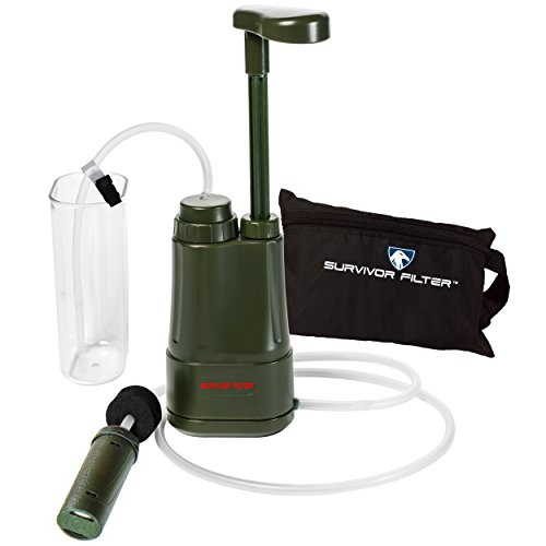 Survivor Filter Pro - Hand Pump Camping Water Filter - Emergency Water Filter
