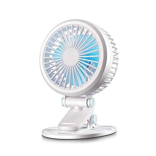 HYY-YY Ventilador portátil, pequeño Ventilador 2 Engranaje de Escritorio CILP Ventilador Dormitorio Oficina Mini Ventilador USB Cama compartida Abrazadera del Ventilador