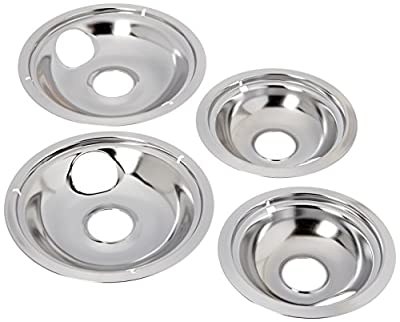 Stanco 5556 4 Pack Universal Electric Range Chrome Reflector Drip Bowl