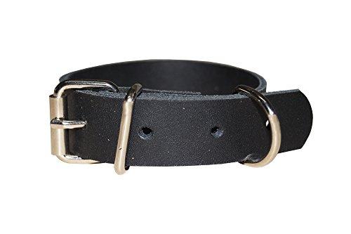 Leder Befestigungsriemen mit D-Ring und Schnalle, Fixierriemen, Lederriemen, Farbe:schwarz, Größe:1.5cm breit x 20cm lang