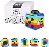 Yetech Rainbow Fidget Cube - Stresswürfel Spielzeug Anti-Stress-würfel Geschenk zum Stressabbau...