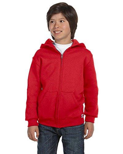 Russell Athletic 997HBB - Youth Dri-Power Fleece Full-Zip Hood True Red