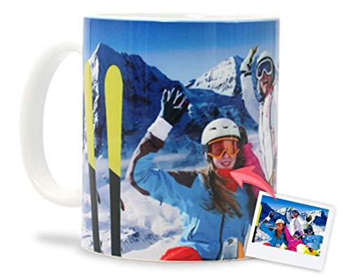 Tazas Personalizadas con Tus Fotos y Texto | Tazas de cerámica Apto para microondas y lavavajillas | Color: Blanco