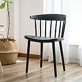 LIXUDECO Costomized - Silla de comedor nórdico para la cocina Modren Minimalista Windsor de plástico, sillas de comedor, muebles para el hogar, color negro